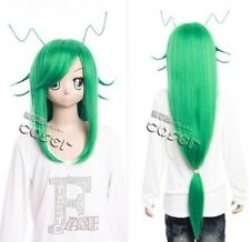 W-296 FAIRY TAIL FRIED /FREED JUSTINE COSPLAY Perücke Wig grün green 100cm