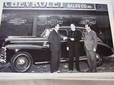 1948 CHEVROLET NEW CAR DELV. IN FRONT OF DEALER  12 X 18 LARGE PICTURE   PHOTO
