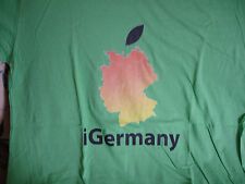 iGERMANY APPLE LIMITED EDITION SIZE XL T SHIRT DESIGNED IN PALO ALTO BY STANFORD