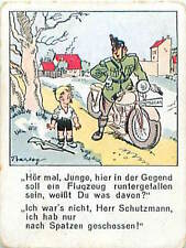 N°25 Humour Humor Police Motorcyclist Moto  Germany Allemagne IMAGE CARD 30s