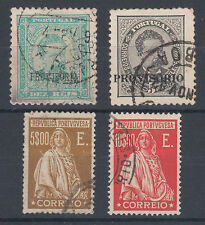 Portugal Sc 80/421 used. 1892-1926 issues, 4 diff better singles, F-VF