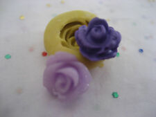 Tiny rose flower 11mm flexible silicone mold for fondant chocolate clay & more