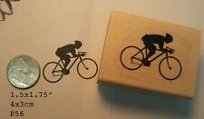 Racing bicycle sport, cycling rubber stamp P56