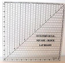 Quilters Rule  Square-Block Lap Board Quilting Craft Sewing Supplies
