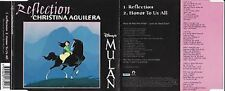 RARE AS NEW CD single. Christina Aguilera - Reflection (from Disney's Mulan)