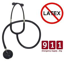 Professional IFAK Mil Dual Head Stealth Black Stethoscope Tactical Medic Rescue