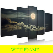 HD WITH FRAME Canvas Prints Painting Wall Art Mural Huge Decoration Moon Sky DIY