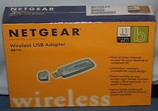 NIB Netgear Wireless USB Adapter MA111 11Mbps 2.4 GHz New