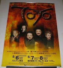 TOTO Japan PROMO ONLY 73 x 51 cm TOUR POSTER official 2006 Steve Lukather RARE