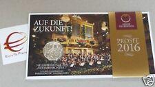 5 euro 2016 Ag folder Austria Autriche Oesterreich concerto Neujahrskonzert