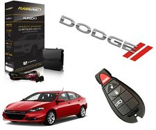 2015 DODGE DART PLUG & PLAY REMOTE START SYSTEM 3X LOCK USED OEM KEY FOB STARTER