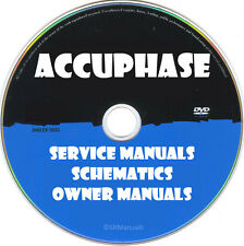 Accuphase Service Owner Manual & Schematic- PDFs on DVD - Huge Collection