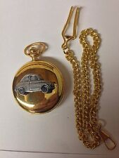 FIAT 500 ref64 PELTRO effetto automobile su un LUCIDO GOLD CASE Pocket Watch