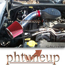 RED 1997-2003 DODGE DURANGO DAKOTA 5.2 5.2L 5.9 5.9L AIR INTAKE KIT + FILTER