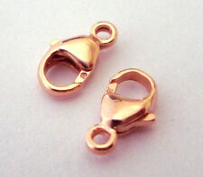 10pc 14/20 kt ROSE gold filled lobster Claw Parrot casted Clasp 9mm w/ loop RT02