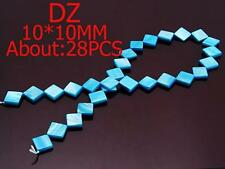 z014354 1 Strand Natural MOP Mother Of Pearl Aqua Shell Square 10mm Loose Beads