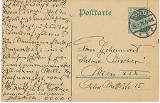 """DT.REICH """"BONN / 1"""" K2 5 Pf Germania Kab.-GA-Postkarte (ohne Wasserzeichen) 1916"""