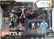 JEDI vs. SITH Star Wars Revenge of the Sith Battle Packs Figures 5-pack 2005