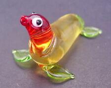 Verre seal sea lion verre animal en verre ornement couleur verre soufflé figure cadeau