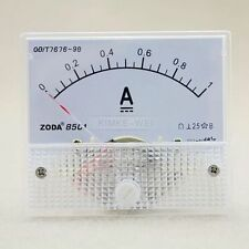 DC 0-1A Analog Amp Meter Ammeter Current Panel New