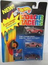 Vintage 1987 Hot Wheels Color Racers including 1982 Toyota Supra and Hot Bird (3