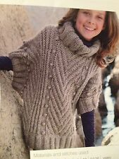 Girls Knitted Poncho Sweater Knitting Pattern Age 6 - 16