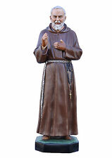 Padre Pio fiberglass statue cm. 130 with glass eyes
