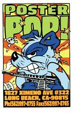 Poster Pop Kozik POSTER Dog With Gun Print Mint Original Signed Numbered