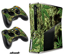 Skin Decal Wrap for Xbox 360 Slim Gaming Console & Controller Xbox360 Slim SKUNK