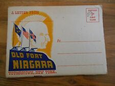 Old Vintage 1947 Letter from Old Fort Niagara Youngstown New York Booklet