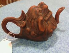 Antique chinese dragon head teapot 19th century )))RARE(((
