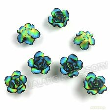 150pcs Green Flowers Rose Shape Styles Charms FIMO Polymer Clay Bead Findings D