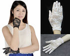 Sexy Women Ladies Summer Bridal Wedding Party Prom Short Sunscreen Lace Gloves