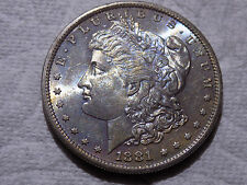 1881 S Morgan Silver Dollar Rainbow Toning OBV Rainbow REV