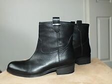 Faith black genuine leather boots uk 7/ eur 40