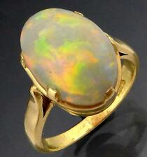 Outstanding 2.4ct White PRECIOUS OPAL 18ct GOLD DRESS RING yellow Val=$2350 Sz K