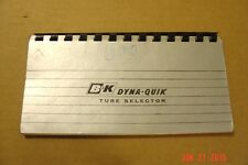 B&K Model 600 Dyna-Quik Tube Tester Data Book