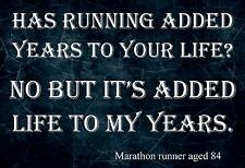 RUNNER / RUNNING INSPIRATION / MOTIVATIONAL  MARATHON QUOTE POSTER PRINT PICTURE