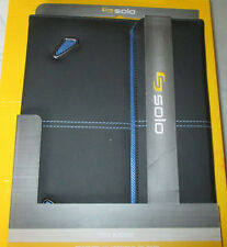 New Solo Tech Carrying Case for iPad - Black, Blue - Vinyl
