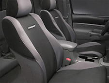 GENUINE TOYOTA BUCKET  SEAT COVERS TOYOTA TACOMA 05-08 FACTORY TAUPE IN COLOR