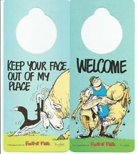DOG DOOR KNOB HANGER Sign - WELCOME - KEEP YOUR FACE OUT - BUY ONE GET ONE FREE