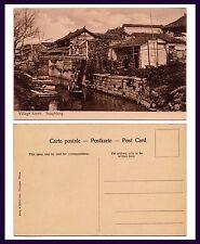 CHINA SHANGHAI SUNGKIANG VILLAGE SCENE ALONG CANAL, KELLY & WALSH CIRCA 1907