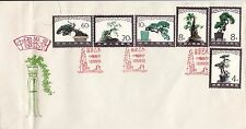 Stamps China 1981 Minature Landscapes set of 6 on FDC, red postmark