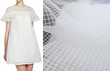 "Lace Fabric White Organza Beautiful Mesh Dress Fabric Wedding Fabric 59"" width"
