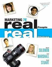 Marketing: Real People, Real Choices by Solomon, Marshall & Stuart, 7th Edition