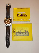 Invicta 2025 Aluminium Case Light Weight Men's Watch Leather Band
