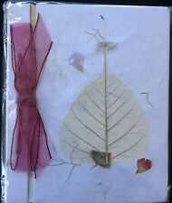 Handmade Pressed Paper with Flowers Journal Nature Rustic New India Global Art