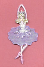 Ballet - Dance - Ballerina In Purple w/Beads Embroidered Iron On Applique Patch