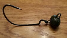SIX  1/2oz 5/0 Biffle Head Swing  Football Jiggle Head Shaky Shakey Head Jig