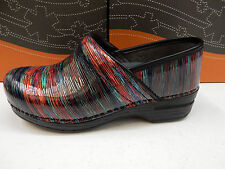 DANSKO WOMENS CLOGS PRO XP PATENT MULTI STRIPED SIZE EU 40